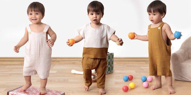Dětské oblečení z konopné látky s příměsí tencelu
