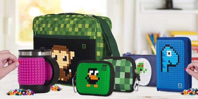 Pixelové peněženky, batohy i náramky a hrnky