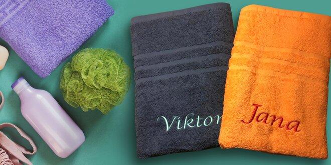 Froté ručník či osuška s vlastní výšivkou na přání
