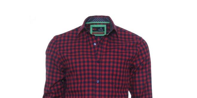 2b6c030cfc2 Pánská červeno-černá kostkovaná košile z limitované kolekce Pontto ...