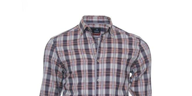 Pánská kostkovaná košile Pontto v jemných barvách  60d133793b