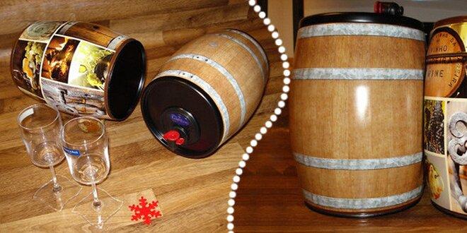 5 litrů italského vína v soudku