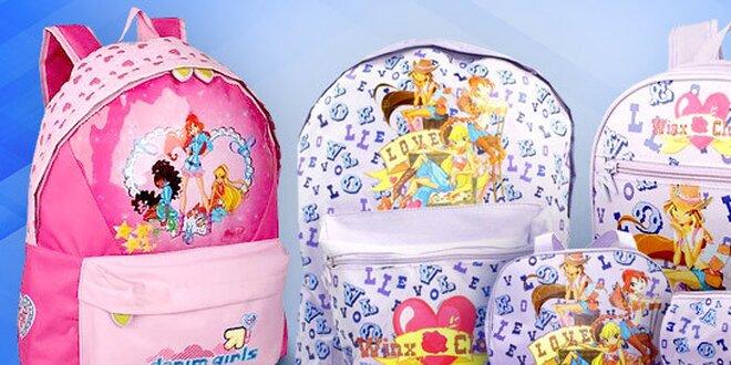 Dívčí kabelky, batohy a penál Winx