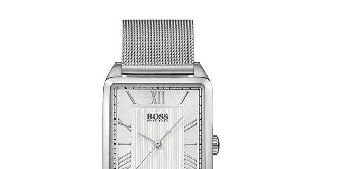 Dámské stříbrné hranaté hodinky Hugo Boss Orange