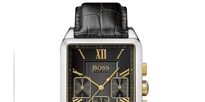 Pánské hranaté hodinky s chronografem Hugo Boss Orange