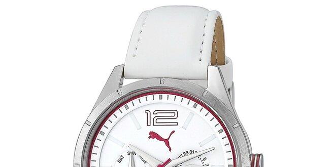 90101a1eb21f1 Dámské bílé analogové multifunkční hodinky Puma | Slevomat.cz
