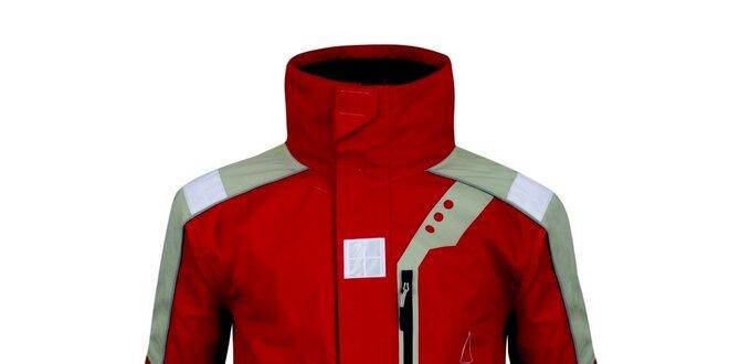 Pánská červeno-šedá funkční bunda Husky