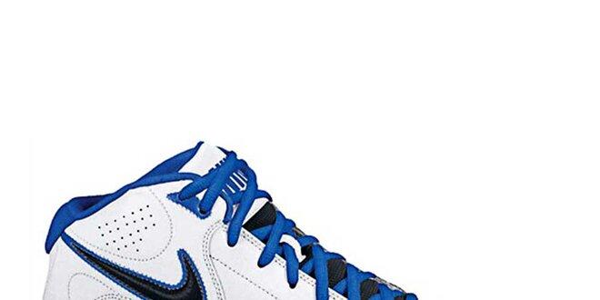 Pánské bílo-modré kotníkové tenisky s černými detaily Nike  95d1e8f0b98