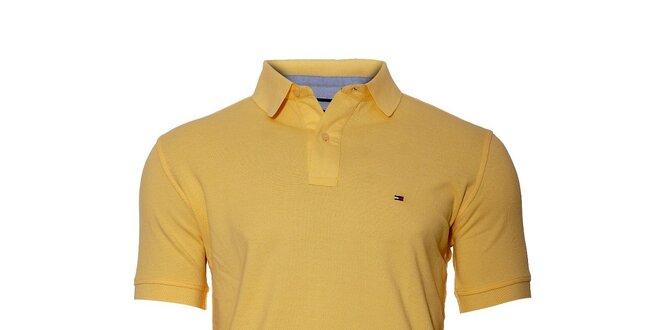 Klasické světle žluté polo tričko Tommy Hilfiger