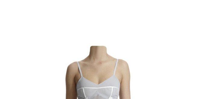 Dámská perlově modrá transparentní košilka Hoff by Hoff