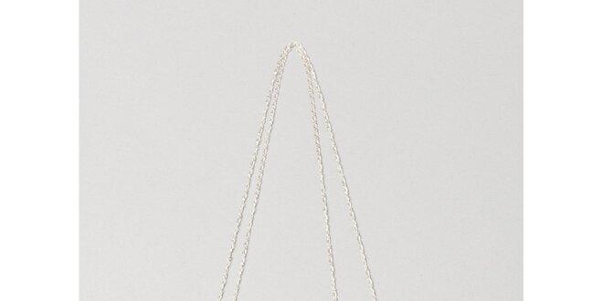 Dámský stříbrný náhrdelník s bílou kuličkou Pietro Filipi
