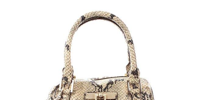 Dámská světlá kabelka s hadím vzorem DKNY