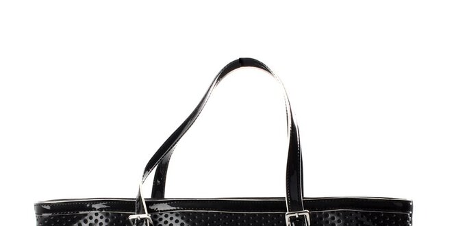 Dámská černá perforovaná kabelka DKNY