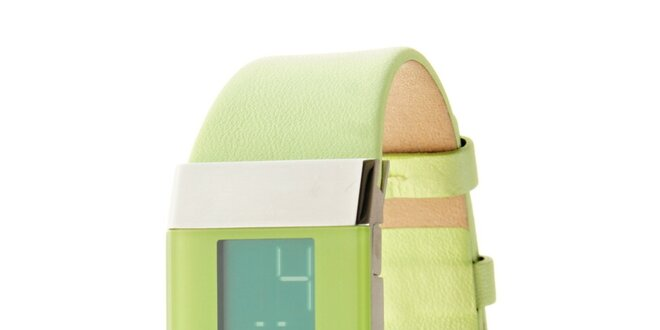 Dámské světle zelené digitální hodinky Danish Design