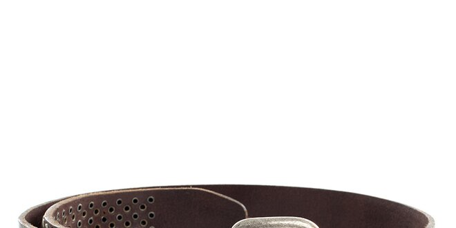 Pánský hnědý kožený pásek s cvočky Pepe Jeans  68308c0b32