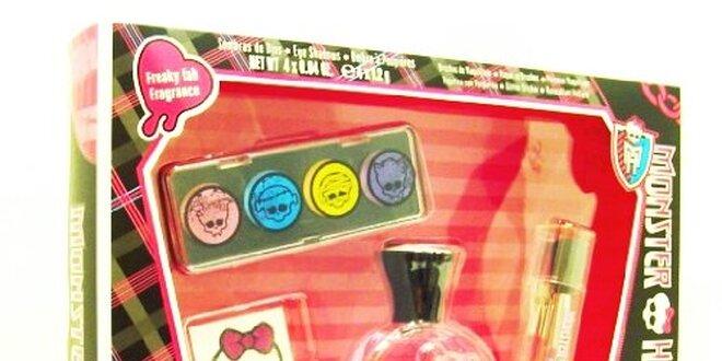 Monster High dárková sada - toaletní voda 30 ml, Oční stíny, Tetování