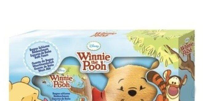 Medvídek Pú dárková sada - pěna do koupele 250ml+mycí žínka