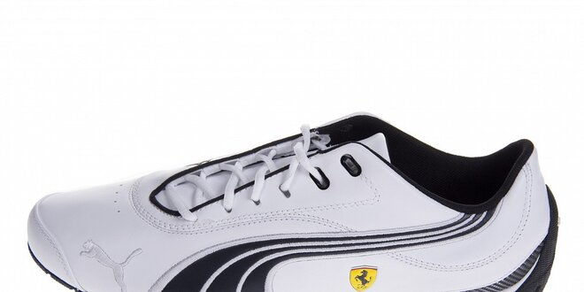 Pánské bílé tenisky Puma Ferrari s černými detaily  35f6c9e503