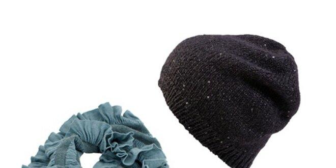 Dámský set čepice a tyrkysového šálu Invuu