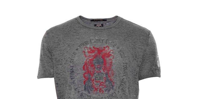 Pánské bavlněné triko značky Rare v khaki barvě  09f3bb330d