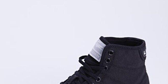 Dámské černé plátěné kotníkové tenisky Lacoste  4101255cbe4