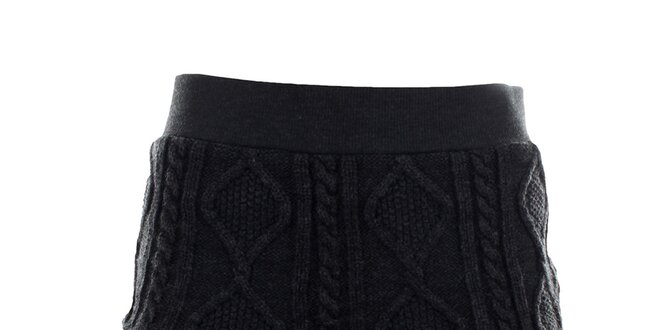 Dámská pletená antracitová sukně Angels Never Die  bcfc6c78cd
