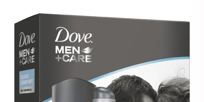 Dove For Men kazeta Clean Comfort (deo 150ml+sprch.gel 250 ml )