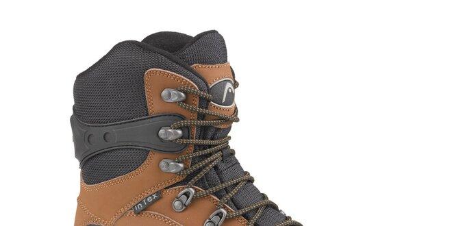 71090cfb791 Pánské hnědo-černé vysoké zimní trekingové boty Head s membránou ...