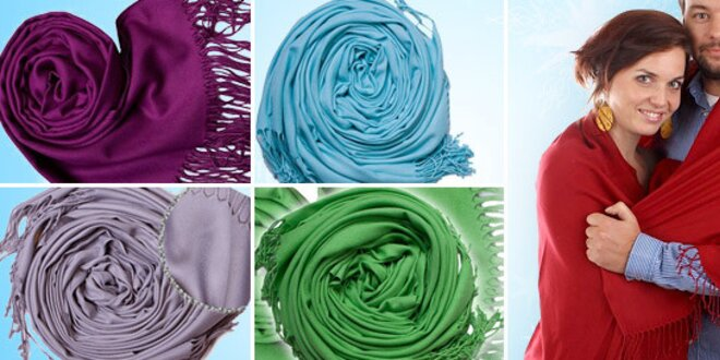 60% sleva na luxusní barevné šály  b384d63b81