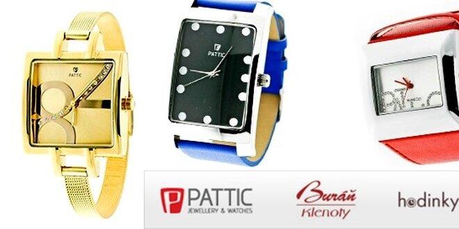 Originální dámské barevné moderní hodinky značky Pattic  0a61057502