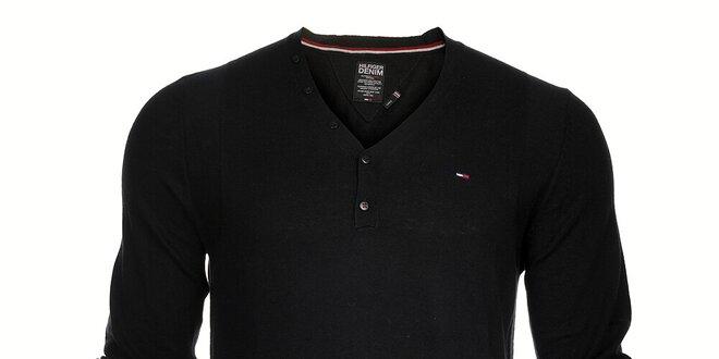 Pánský černý svetr Tommy Hilfiger