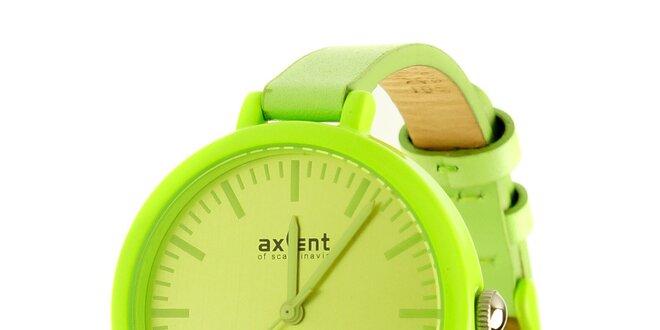 Dámské limetkově zelené hodinky Axcent