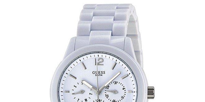 83af26d34 Dámské bílé náramkové hodinky Guess | Slevomat.cz