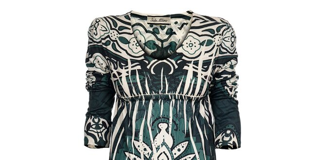 Dámské tyrkysové šaty Snake Milano s potiskem