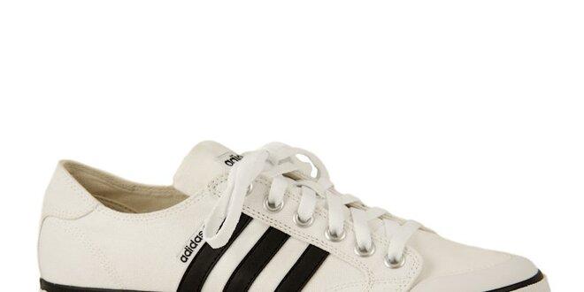 1372fb14bac Bílo-černé sportovní tenisky Adidas Clemente Stripe Lo