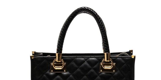 Dámská černá kabelka z pravé kůže Luisa Vannini