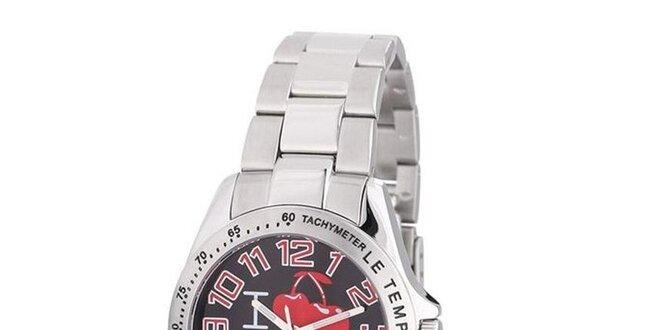 Dámské kulaté analogové hodinky s třešničkami Le Temps des Cerises