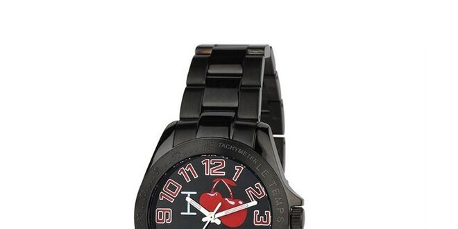 Dámské černé hodinky Le Temps des Cerises