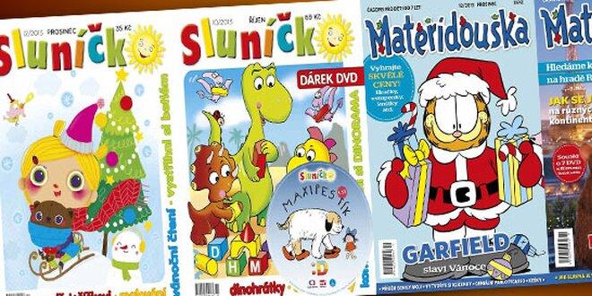 Roční předplatné časopisu Mateřídouška či Sluníčko