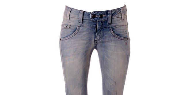 eb5fbcf36e6 Dámské světle modré skinny džíny Object