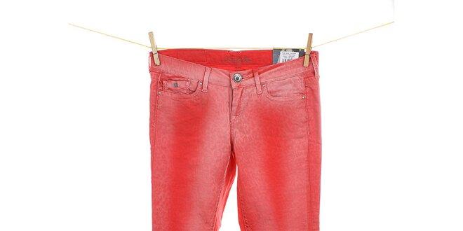 Dámské korálově červené skinny džíny Pepe Jeans  0239e91c59