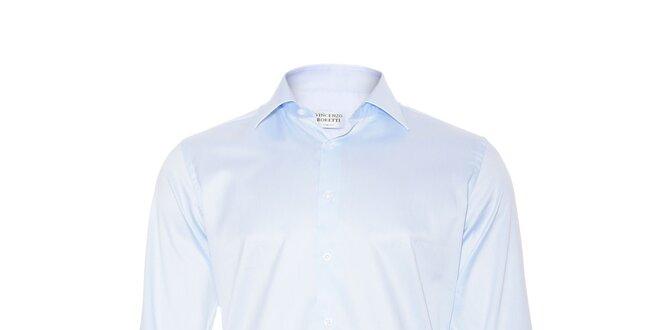 Pánská slim-fit košile na manžetové knoflíčky Vincenzo Boretti v ledově  modré barvě e6500b2737