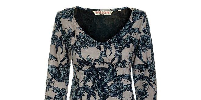 393b7258cb4a Dámské šaty s květinami a ptáky Savage Culture