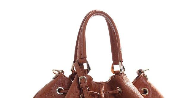Dámská hnědá kožená kabelka Belle   Bloom  4274975f413