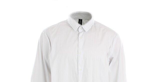 Pánská bílá obleková košile s puntíky Pietro Filipi