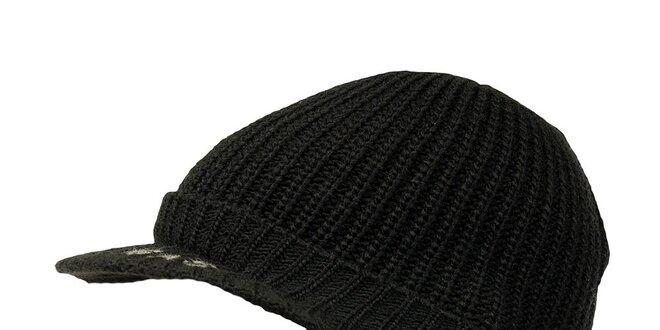48a0ce2959e Pánská černá čepice s kšiltem GAS