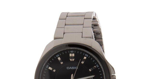 Pánské ocelové náramkové hodinky Casio s černým ciferníkem  3f47d8a7b1b
