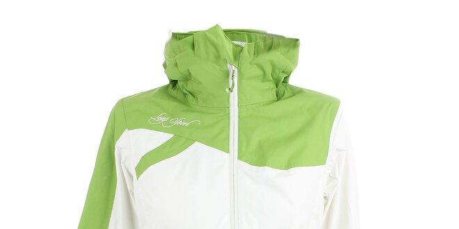 Dámská bílo-zelená bunda Loap