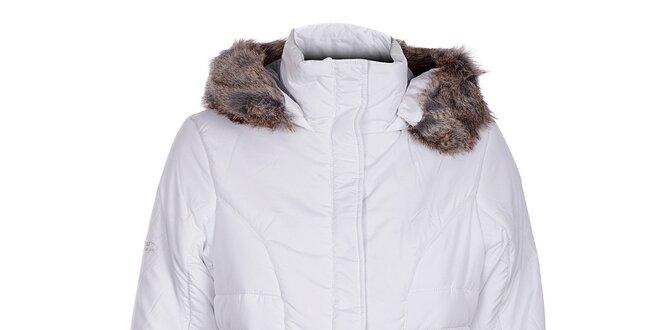 f488156d9b Dámská bílá zimní bunda Loap s kožíškem