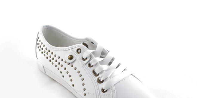 Dámské bílé tenisky Puma s kovovými cvoky